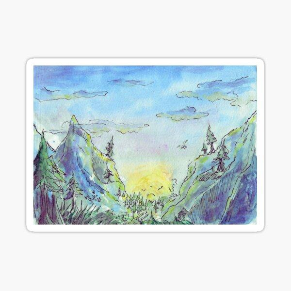 "Lanschaft - ""Hike to a still unknown place"" Sticker"