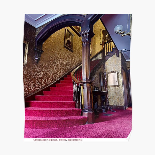 Gibson House Front Staircase Poster