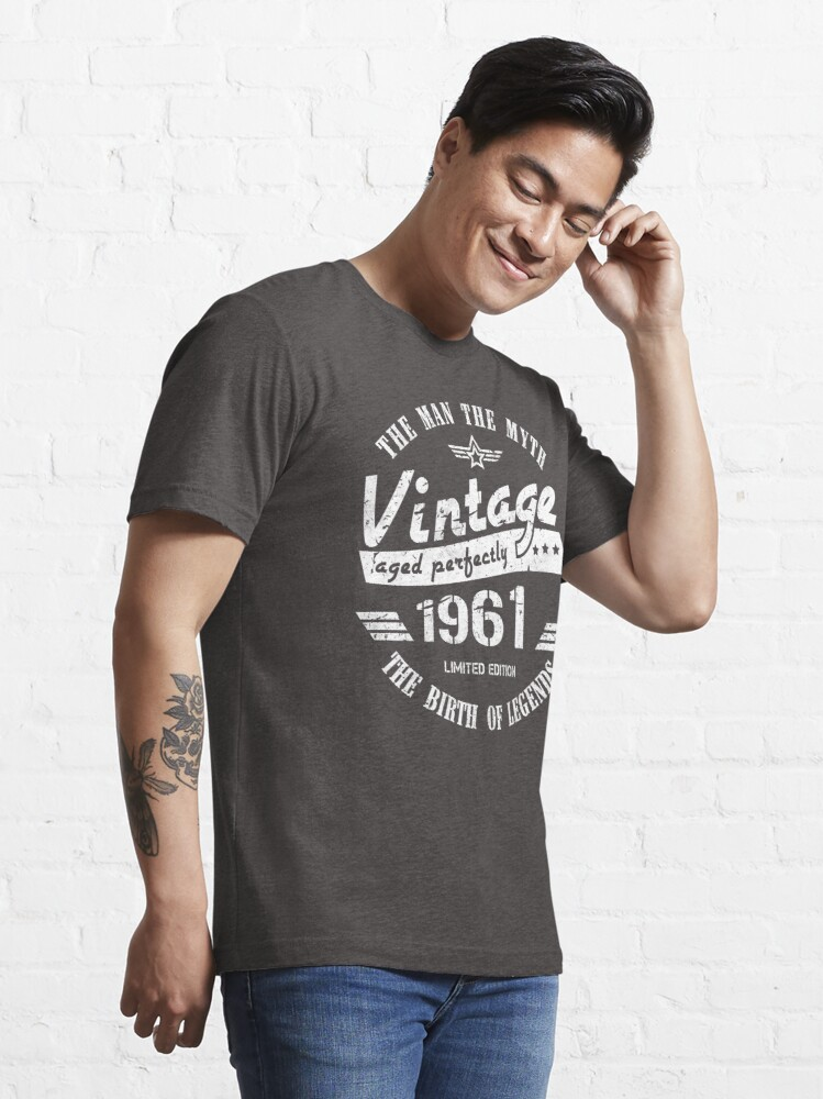 Alternate view of Vintage 1961 - 60th Birthday Gift For Men Essential T-Shirt