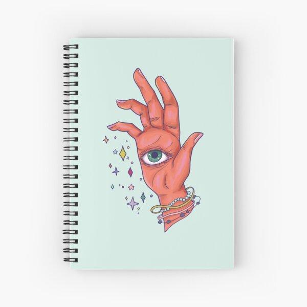oeil magique paume lecture main Cahier à spirale