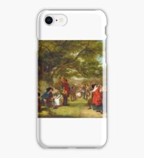 William Powell Frith, with the assistance of Thomas Creswick - An English Merrymaking a Hundred Years Ago iPhone Case/Skin