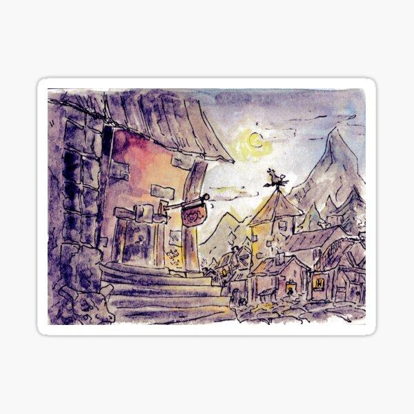 Night scene - The moonlight smiles at us Sticker