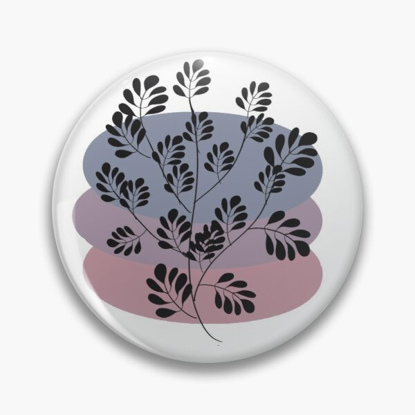 Black Pastel Leaf Print Pin