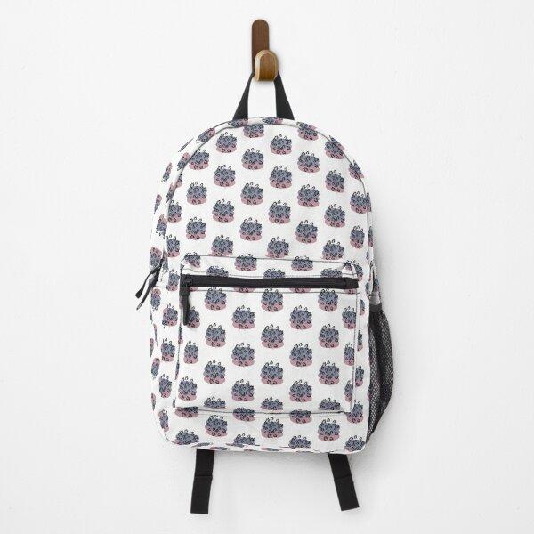 Black Pastel Leaf Print Backpack