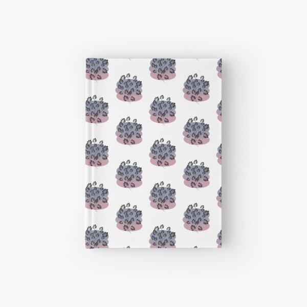 Black Pastel Leaf Print Hardcover Journal