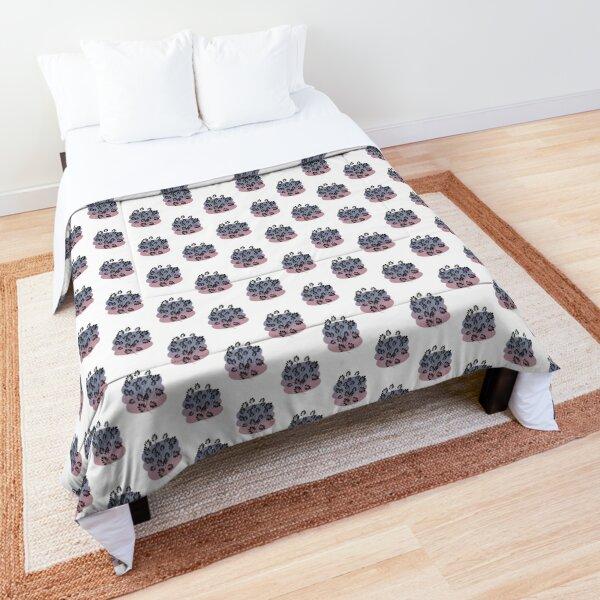Black Pastel Leaf Print Comforter