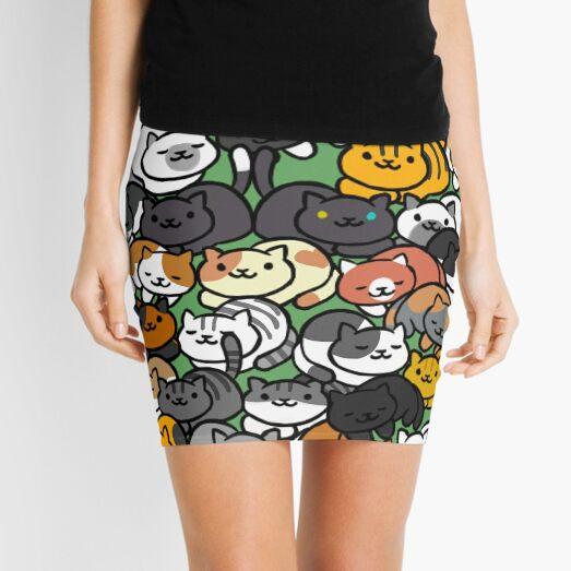 Neko Atsume Sleepy Kitties Mini Skirt