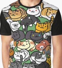 Neko Atsume Sleepy Kitties Graphic T-Shirt