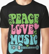 Peace Love Music Graphic T-Shirt