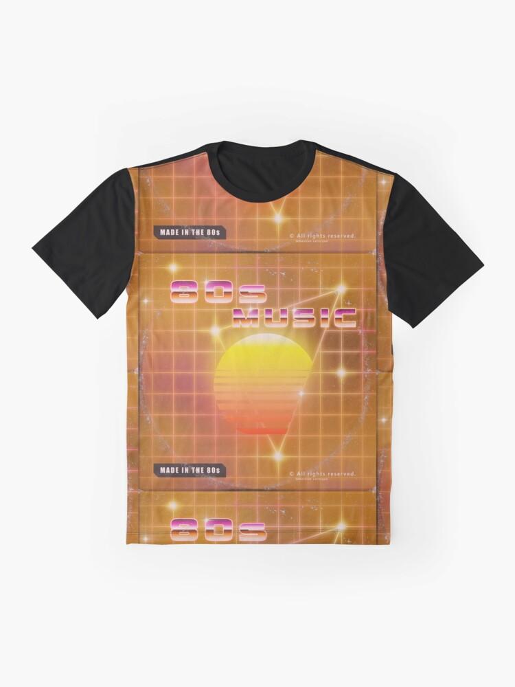 Alternate view of 80s music vinyl disk album Graphic T-Shirt