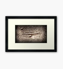 Metorphorically Speaking, it is Two Sticks and a Rock Framed Print