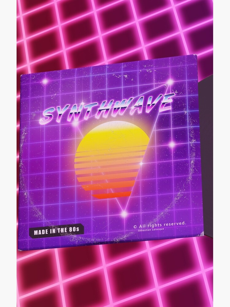 Synthwave music with vinyl disk by GaiaDC