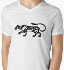 Ghost Cougar - formline puma Men's V-Neck T-Shirt