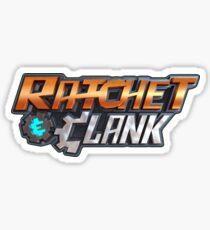ratchet clank logo games Sticker