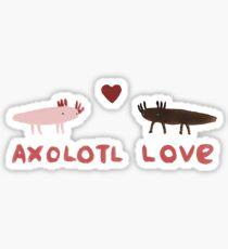Axolotl Love Sticker