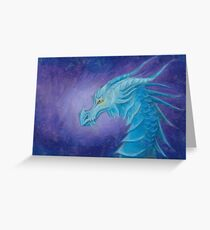 The Cool Blue Dragon Greeting Card