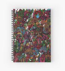 Psychedelic Cartoon Spiral Notebook
