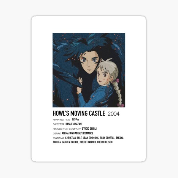 Affiche alternative du château en mouvement de Howl Sticker