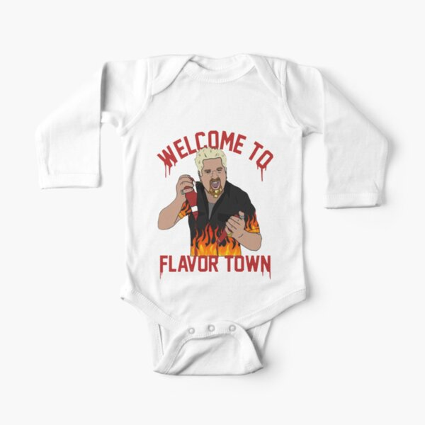 flavortown Long Sleeve Baby One-Piece