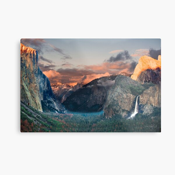 Yosemite Valley from Tunnel View Metal Print