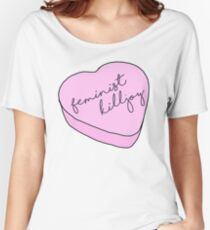 """Feminist Killjoy"" Candy Heart Women's Relaxed Fit T-Shirt"