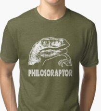 Philosoraptor T-Shirt Tri-blend T-Shirt