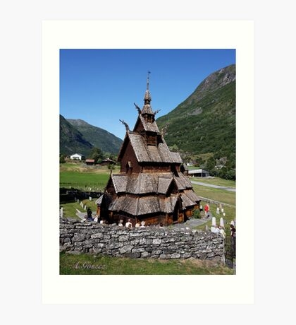 I have seen more than I remember, and remember more than I have seen. Borgund . Norway. Andrzej Goszcz. Art Print