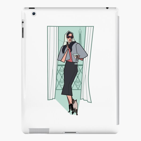 Cats and cocktails retro print iPad Snap Case