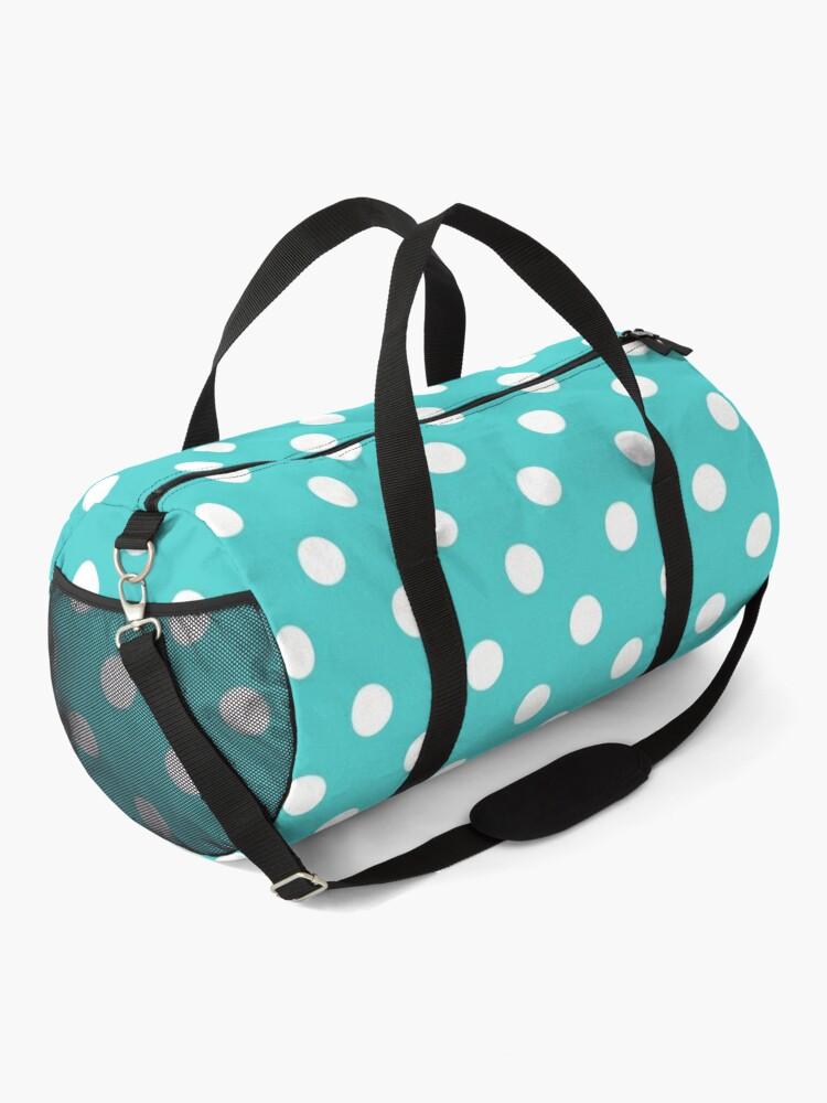 Alternate view of Aqua Polka Dots Duffle Bag