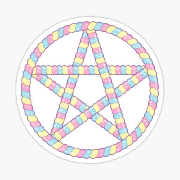 Marshmallow Pentagram Sticker