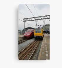 Dutch international trains Canvas Print