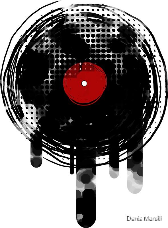 Quot Melting Vinyl Records Vintage Quot Stickers By Denis Marsili