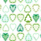 Springtime Green Leaves 1 by Edward Huse