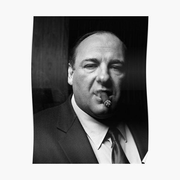 Tony Soprano Smoking Cigar Poster