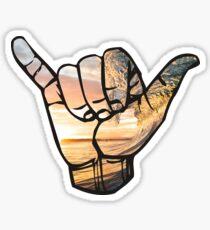 Shaka Hands Sticker
