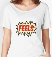FEELS Women's Relaxed Fit T-Shirt