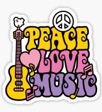 Frieden Liebe Musik Sticker