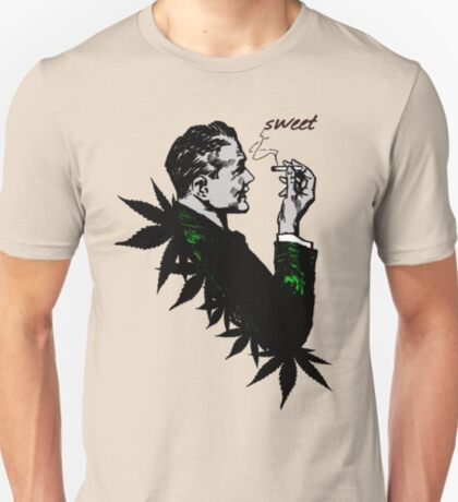 Politics and Weed - Sweet - Politician Smoking Cannabis T-Shirt