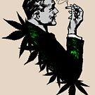 Politics and Weed - Sweet - Politician Smoking Cannabis by Denis Marsili