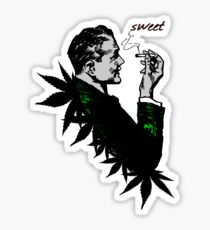 Politics and Weed - Sweet - Politician Smoking Cannabis Sticker