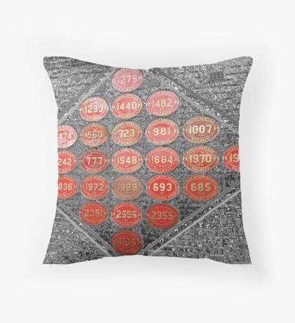 Wall of remembrance Throw Pillow