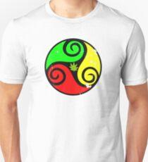 Reggae Love Vibes - Cannabis Reggae Flag T-Shirt