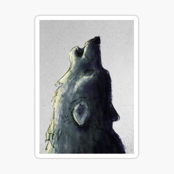 """Digital sketch - """"Wolfsgesang"""" Sticker"""