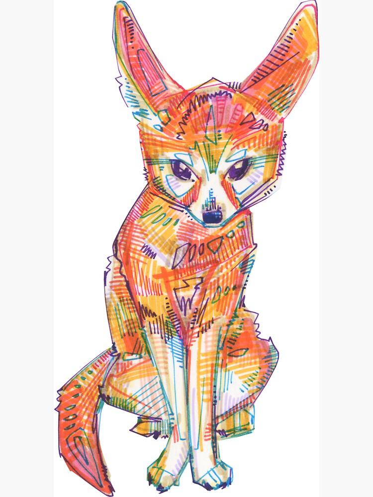 Fennec Fox Drawing - 2016 by gwennpaints