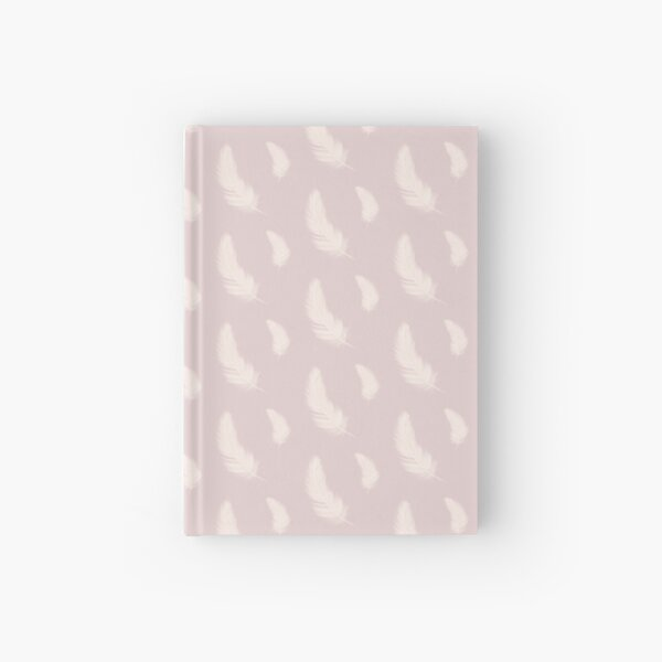 Pink and White Feather Hardcover Journal