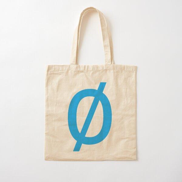 "Math, Empty Set - Unicode Character ""∅"" (U+2205) Blue Cotton Tote Bag"
