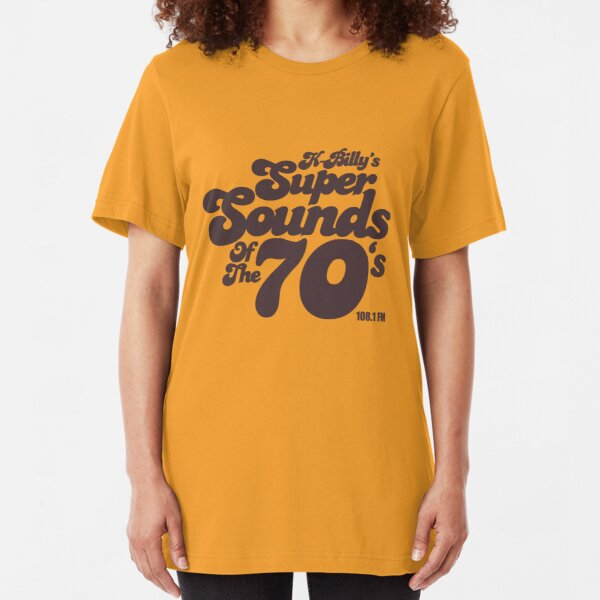 Perros de depósito K-Billy's Super Sounds Of The Seventies BrownT-shirt Camiseta ajustada