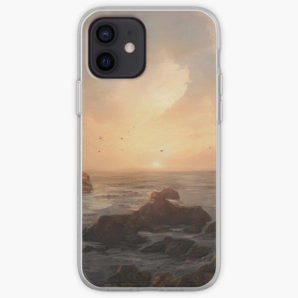 Beautiful Sunset On An Ocean Landscape iPhone Soft Case