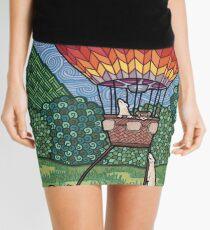 Ferret Hot Air Balloon Ride Mini Skirt