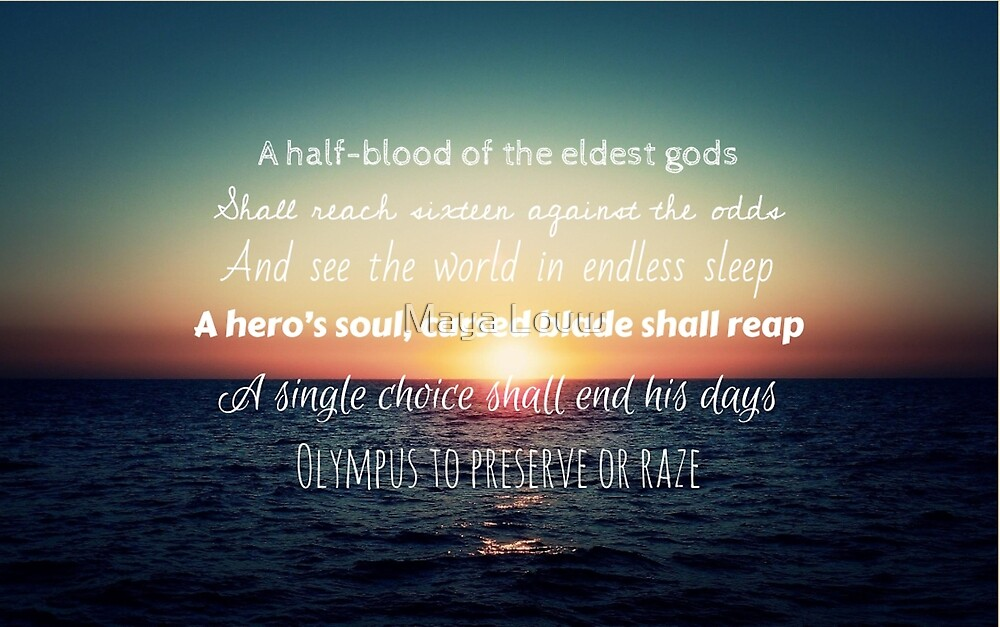 Percy Jackson Prophecy Sunset by MewMewMaya